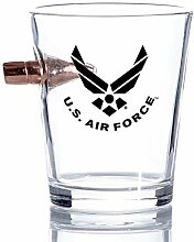 Air Force Bullet Shot Glas - Mundgeblasene Gläser