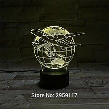 Air Plane 3d LampSitting Room Lights 3D