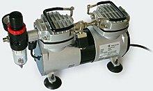 Airbrush Kompressor AS19 2 Zylinder Kolben Wasserabscheider Druckminderer