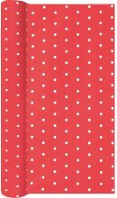 Airlaid Tischläufer MINI DOTS rot weiß 40x490cm Home Fashion (5,95 EUR / Stück)