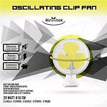 Airontek Oscillating Clip Fan 20W 18cm 2-Stufen