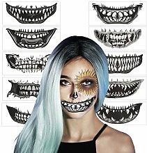 AirSMall 10stk Halloween Tattoos Totenkopf
