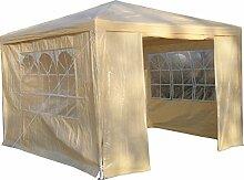 Airwave Pavillon 3 x 3 m, beige, Inklusive 1 x einzigartig gestalteter Windstangen für besondere Stabilitä