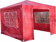 Airwave Pavillon 3 x 3 m, rot, Inklusive 1 x einzigartig gestalteter Windstangen für besondere Stabilitä