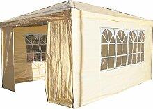 Airwave Pavillon 3 x 4 m, beige, Inklusive 1 x einzigartig gestalteter Windstangen für besondere Stabilitä