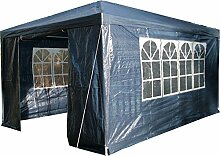Airwave Pavillon 3 x 4 m, blau, Inklusive 1 x einzigartig gestalteter Windstangen für besondere Stabilitä