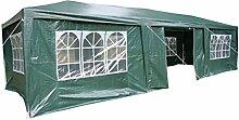 Airwave Pavillon, 3 x 9 m, grün, Inklusive 3 x einzigartig gestalteter Windstangen für besondere Stabilitä