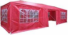 Airwave Pavillon, 3 x 9 m, rot, Inklusive 3 x einzigartig gestalteter Windstangen für besondere Stabilitä