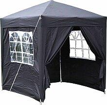Airwave Pop-Up-Pavillon, 2 x 2 m, schwarz