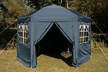 Airwave Pop-Up-Pavillon, 3,5m, sechseckig, blau