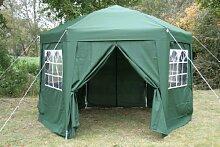 Airwave Pop-Up-Pavillon, 3,5m, sechseckig, grün
