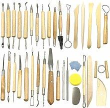 Aisamco 40 Stück Keramik Ton Werkzeuge Set