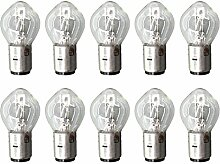 AISEN 10x Glühlampe Birnen Lampe B35 BA20D 12V 35