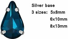 AISHANG 3 Größen Bunte Teardrop Glas Kristall