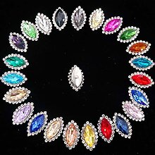 AISHANG 7 * 15Mm Glas Kristall Mit Strass In