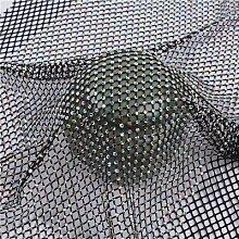 AISHANG Strass Stoff Stoff Netz Applique Glas