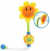 Aisi baby Kleinkind Sonnenblume Wasserspritz Dusche Spielzeug Badespielzeug Badewannenspielzeug Wasserspielzeug Wasserspiel Brause Water Badespaß Spiel für Baby Duschkopf
