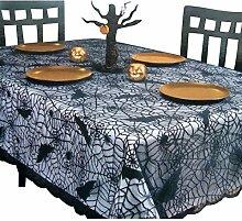 AiSi Halloween Tischdecke Fledermaus lace