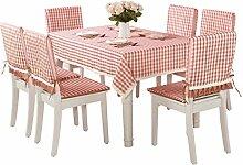 AiSi karo Schmutz- und Wasserabweisend eckig Spitze Tischdecke/ Küchentextilien/ Küche 110*160cm Pink