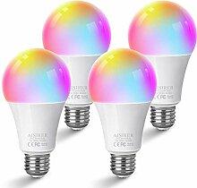 AISIRER Alexa Glühbirnen E27 Smart LED-Lampe WLAN