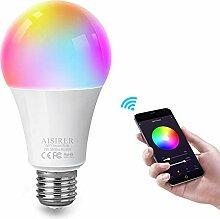 AISIRER Smart Lampe WLAN Glühbirnen Wifi Led RGBW