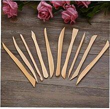 Aisoway 10pcs Holz Holz Claymodelling Werkzeuge