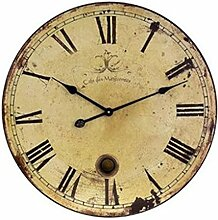 AISSION Wall Clock Vintage Shabby Chic runden