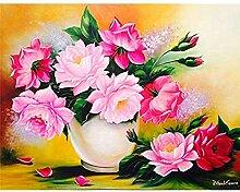 AItmp DIY 5D Diamantmalerei Blumenbild Stickerei