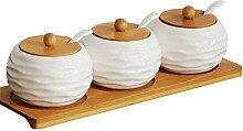 Aitravel Porzellan Gewürzdose Gewürzbehälter