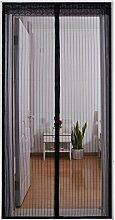 AIU Insektenschutz Moskitonetz Fliegengitter Magnetvorhang Fliegenvorhang für Türen (90 x 210cm, Schwarz)