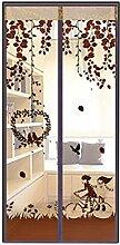 AIU Insektenschutz Sommer Moskitonetz Fliegengitter Magnetvorhang Fliegenvorhang (100 x 210cm, braun)