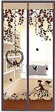 AIU Insektenschutz Sommer Moskitonetz Fliegengitter Magnetvorhang Fliegenvorhang (90 x 210cm, braun)