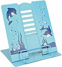 AIU kinder Metall Buchständer Verstellbar Leseständer (blau)