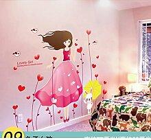 AIWQTO 3D Wand tapete,Für Kinder Layout Mädchen Kind Schlafzimmer Dekoration Zimmer-I 66x77cm(26x30inch)