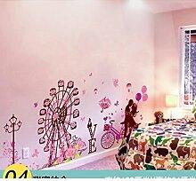 AIWQTO 3D Wand tapete,Für Kinder Layout mädchen