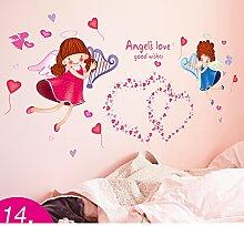 AIWQTO 3d wand tapete,Für kinder layout mädchen kind schlafzimmer dekoration zimmer-N 100x46cm(39x18inch)