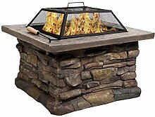 AIY Feuerkorb Garten Mit Funkenschutz Grillstelle