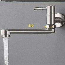 AIYA 304 Edelstahl Wand-Küchenarmatur einzigen