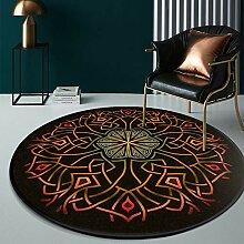 Aiyaoo Shaggy Teppiche Rund 100cm Ethnische Art