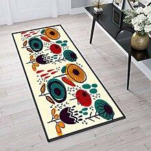 Aiyaoo Teppich für Flur 100x100cm Küchenteppich