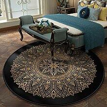 Aiyaoo Teppich Rund 180cm Ethnische Art Retro