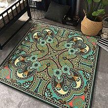 Aiyaoo Teppich Wohnzimmer Quadratisch 100x100cm