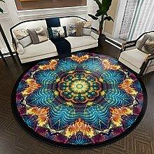 Aiyaoo Wohnzimmer Teppich Rund 120cm Ethnische Art