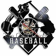 AIYOUBU Baseball Schallplatte Wanduhr Kreative