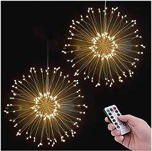AIZESI 2 Stück Feuerwerk Licht Lampe Feuerwerk