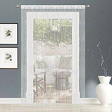 AIZESI 2 x Fadenvorhang, Regenbogen-Tür, Fenster,