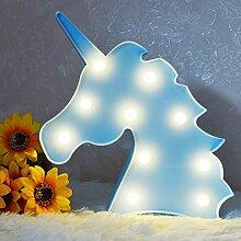 AIZESI Blau Nachtlicht Einhorn Licht