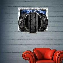 aizhinuo Elegante 3D Reifen Abnehmbare Wandkunst