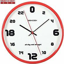 AIZIJI 24 Stunden Metall Kunst Simple Wall Clock Tisch Wohnzimmer Schlafzimmer Büro Creative Individualität Design Clock