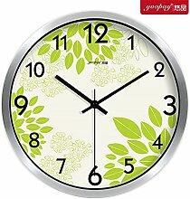 AIZIJI Blume Uhren eleganten und innovativen und frischen Garten Lounge Schlafzimmer mute Wanduhr modern, 25 cm Quarzuhr